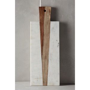 Anthropologie marble and wood cheese board